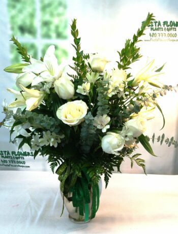 SAME DAY DELIVERY Tall White Tribute