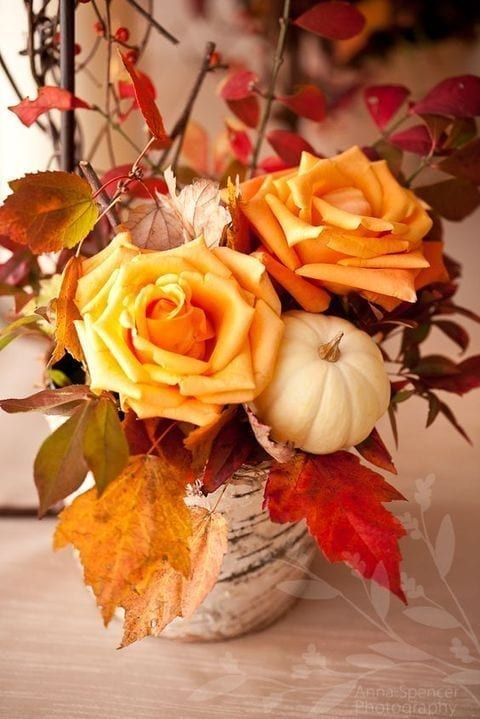 Fall Living Room and Table Centerpieces